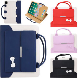 For iPad 7th 8th 9th Gen Air Pro Case Handbag PU Leather Protective Cover Stand