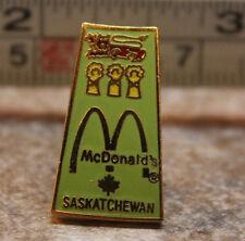 McDonalds Saskatchewan Canada Collectible Pinback Pin Button