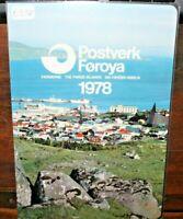 FRANCOBOLLI ISOLE FAROER 1978 ANNATA COMPLETA YEARBOOK NUOVI MNH** (0 31)