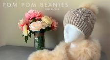 Luxury Pom Pom Beanie Suri Baby Alpaca Fur