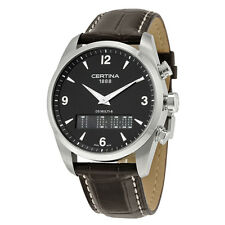 Certina DS Multi-8 Black Dial Brown Leather Mens Watch C020.419.16.057.00
