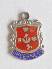Sheerness vintage silver shield enamel travel charm