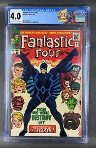 Fantastic Four (1961) #46 CGC 4.0 1st Full App & Cover Black Bolt (3743315001)