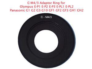 C-M4/3 C-Mount Adaptor fits Cine CCTV Lens to Olympus, Lumix 4/3 camera UK STOCK