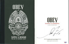 Shepard Fairey SIGNED Supply & Demand 20 Years OBEY GIANT PSA/DNA AUTOGRAPHED
