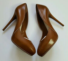 Ralph Lauren Collection Beatrix Calf Spectator Tan Leather Pump Sz 11b Italy