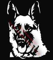 PICK COLOR SIZE German Shepherd Dog Vinyl Decal Window Glass Sticker NEW