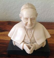 VINTAGE~DESK STATUE~CHALKWARE~ CERAMIC BUST~POPE~BIANCHI~G.PUGGERI