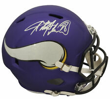 Vikings Adrian Peterson Authentic Signed Full Size Speed Rep Helmet BAS Witness
