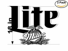 Miller Lite 2 Stickers 18 inches Sticker Decal