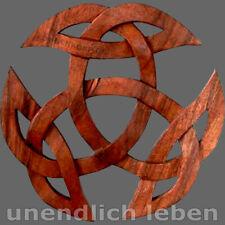 Offene Dreifalt - Wandbild Holz Wandschmuck - groß ! - keltischer Knoten Kelten