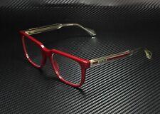 GUCCI GG0560O 007 Square Burgundy Crystal Demo Lens 55 mm Men's Eyeglasses