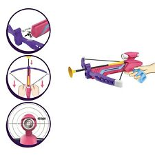 Cross bow sports bow with 3 suction darts Pink outdoors indoors