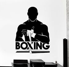 Vinyl Wall Decal Boxing Boxer Fight Club Fighter Stickers Mural (ig4238)