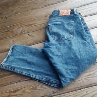 VTG Levi's 501XX Button Fly JEANS Medium Blue wash 34x29