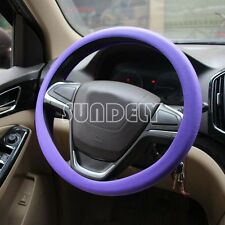 High Quality Car steering wheel cover 36cm - 40cm Silicone Soft Cover, Purple