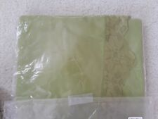 Vintage Olive Green Fabric Tablecloth 65 By 90 Oval With 4 Napkins