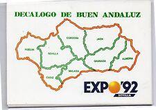 España Expo 92 Sevilla Tarjeta Decalogo Buen Andaluz (DF-538)