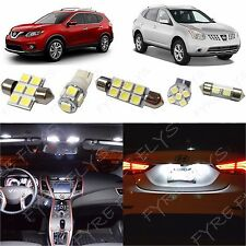 6 Piece white LED interior conversion package kit and license plate lights NR1W