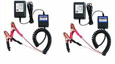 New 2 Pack 12 Volt Automatic Car Battery Float Trickle Charger