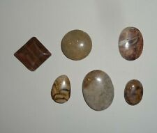 Neutral (Brown, Beige) Stone Pendants Focal Beads, Lot of 6