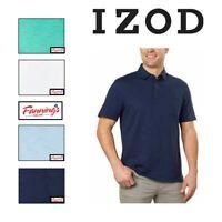 NEW! IZOD Short Sleeves Men's Slub Polo T-Shirt Select - VARIETY SIZE & E32