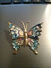 Cloisonne Enamel gold tone butterfly pin ~ Lots of detail!