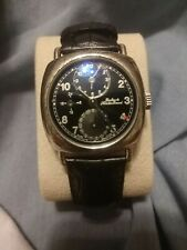 Dubey Schaldenbrand Watch Diplomatic Sterling Silver Case Pre-Owned Dual Time