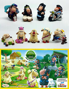 SHEEP COMPLETE SET WITH ALL PAPERS KINDER SURPRISE 2008 FERRERO