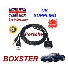 PORSCHE BOXSTER CDR-31 Audio System iPhone 3GS 4 4S iPod USB & Aux Cable black