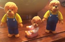 "Vintage BERENSTAIN BEARS  4"" FIGURES lot of THREE FATHER AND DAUGHTER"