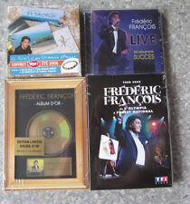4 CD neufs Frédéric François : Coffret Wow - Album d'or - Tour 2008 - Live
