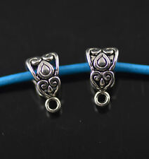 Hot 100pcs Bails Teardrop Connectors Holder Clasp Fit 3mm Necklace Findings