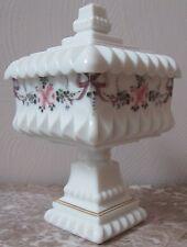 Wedding Bowl - Westmoreland Milk Glass Handpainted - Original