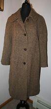 VTG Women's BOBBY JEAN Wool Tweed Trench Coat Jacket MED (10-12) Tan/Black