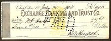 1903 Exchange B & Trust BANK CHECK DRAFT Charleston SC