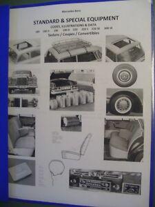 Mercedes TYPE 180 180D 190 190D  OPTIONS ACCESSORIES  EQUIPMEN '53-57 FOCUS