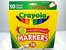 Crayola Broad Point Markers Nib - 10 Pack - Brilliant Long Lasting Colors - Usa