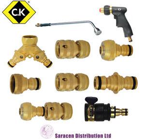 CK BRASS HOSE PIPE CONNECTORS & GARDEN WATERING ACCESSORIES