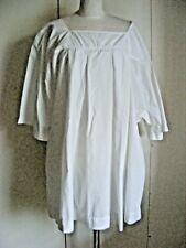 Vintage white cotton blend surplice church choir vestment large size