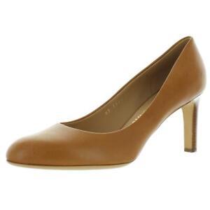 Salvatore Ferragamo Womens Leo Tan Heels Evening 11 Medium (B,M) BHFO 6884