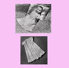 """VINTAGE KNIT PATTERN COPY - KNIT A PRETTY DRESS  FOR A 9.5 """" ROSEBUD DOLL - 1954"""