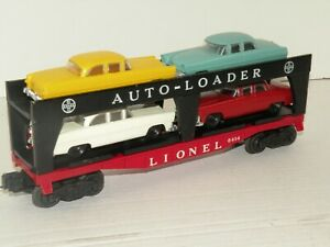 Lionel PW 6414 Auto Carrier Yellow Teal White Red Reproduction Cars NICE