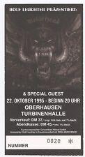 Motörhead    In Concert 1995    Ticket / Konzertkarte / Eintrittskarte