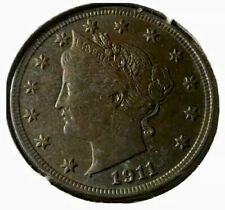 1911 Cent liberty nickel Nice Xf Coin