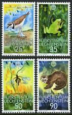 Liechtenstein 907-910,Mi 967-970,MNH Wwf. Oiseau,Grenouille,Mosquito,Putois,1989