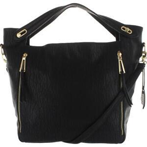 Jessica Simpson Womens Roxanne Black Hobo Handbag Purse Large BHFO 5464