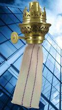 Petroleum Lampen Brenner 14'' Messing Zubehör mit Docht Stellrad antik Deko