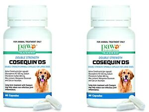 2 x 60 caps PAW Cosequin DS Double Strength Anti-Inflammatory Capsules for Dogs