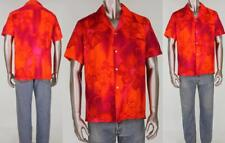 60s Vintage Harriet's Hawaiian Rockabilly Psychedelically Neon Rave Techno Shirt